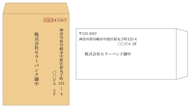 特定記録郵便の封筒の書き方と封...