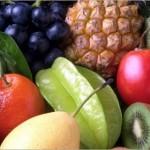 大量の果物