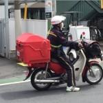 郵便局配達バイク1